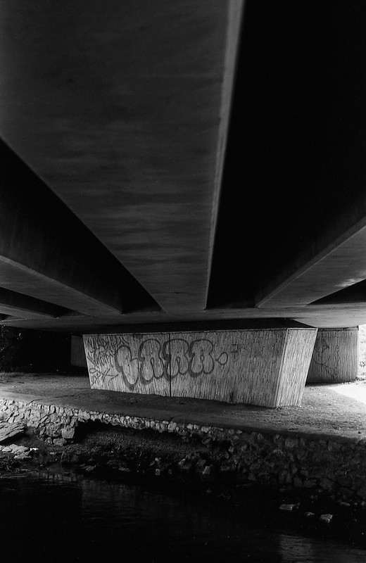 FILM - Under the bridge in black and white