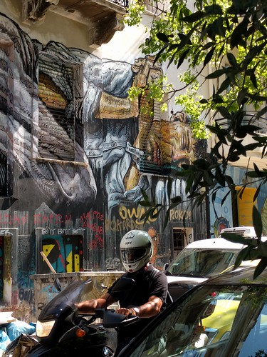 Homeless - street art - Athens, Greece