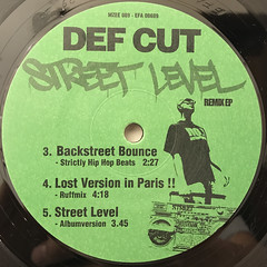 DEF CUT:STREET LEVEL REMIX(LABEL SIDE-B)