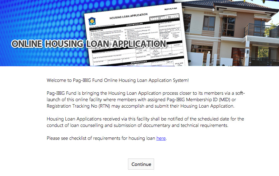 Housing Loan application online