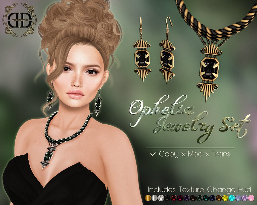 Ophelia Jewelry Set Fatpack - SecondLifeHub.com