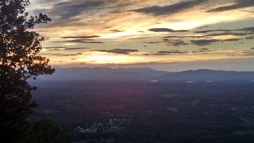 burkemont mountain salem sunset
