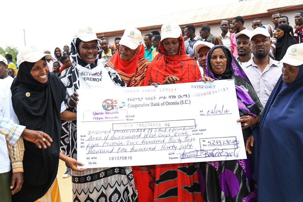 Pastoralist receive an indemnity payment after livestock losses