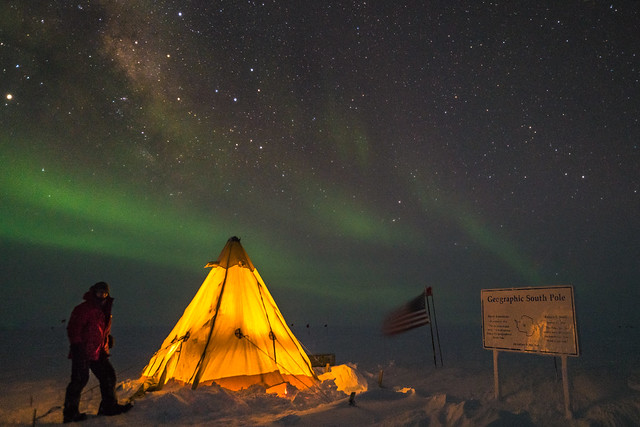 Camping at South Pole