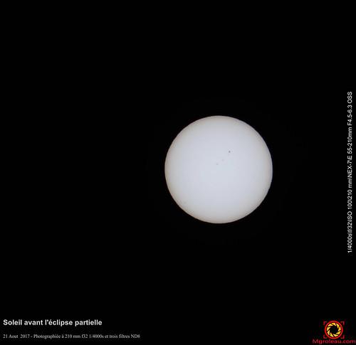 Soleil avant l'éclipse partielle