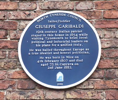 Photo of Giuseppe Garibaldi blue plaque