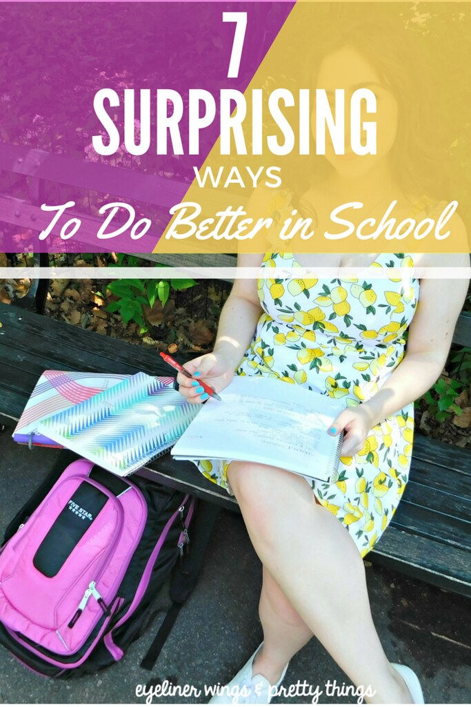 7 Surprising Ways to Do Better in School // eyeliner wings & pretty things
