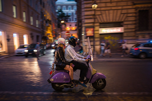 Purple Vespa