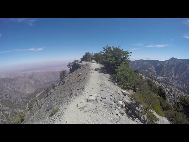 287 GoPro video as I hike along the exposed ridge on the Devils Backbone Trail
