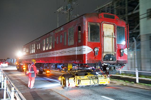 営団地下鉄丸ノ内線500形 584号車 新木場CR入場陸送