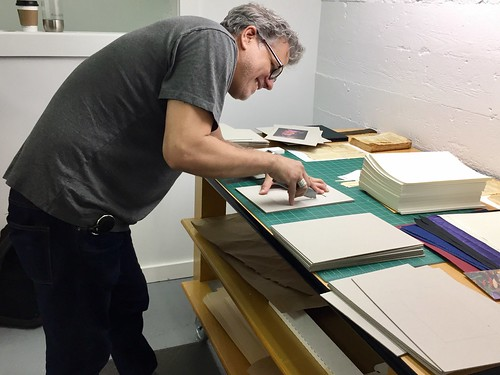Apprentice and helper Christopher Bohnet - Minnesota Book Restoration