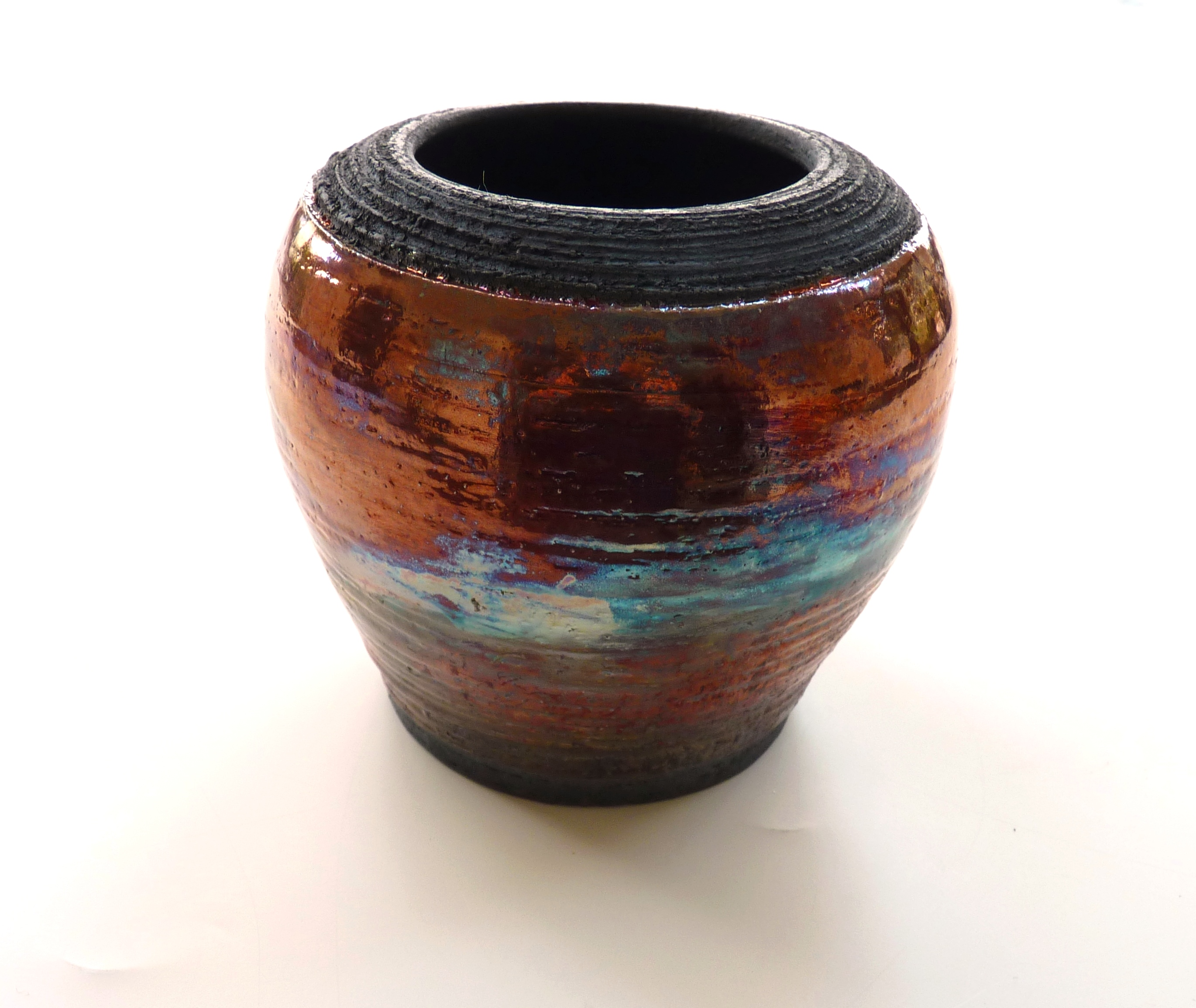 raku pot from Kiln Fired Art
