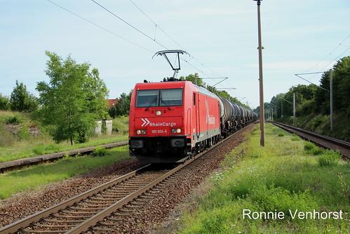 E-loc 185 604(Niedertrebra 8-8-2017)