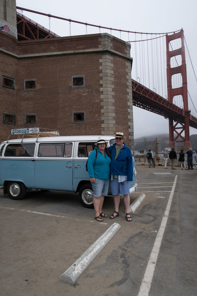 Ken and I at Golden Gate Bridge