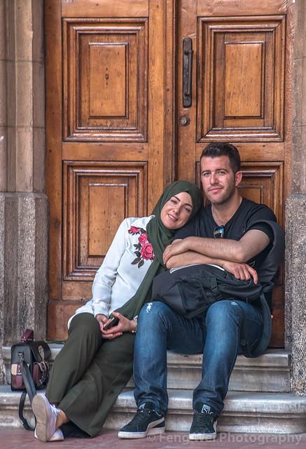 Young Lovers, St. Anthony of Padua Church, Beyoğlu, Istanbul, Turkey