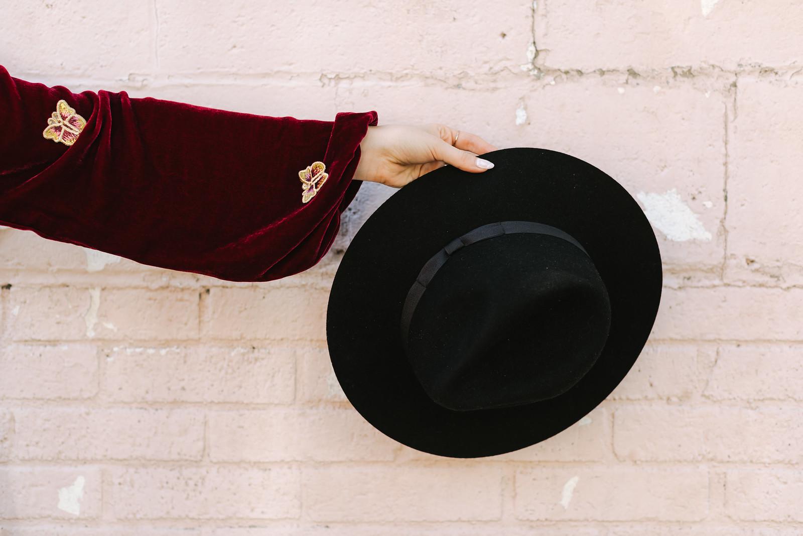 Lack of Color Black Wool Felt Fedora Hat on juliettelaura.blogspot.com