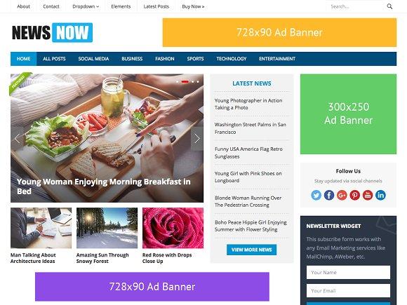 NewsNow v1.3 – Powerful Magazine Theme