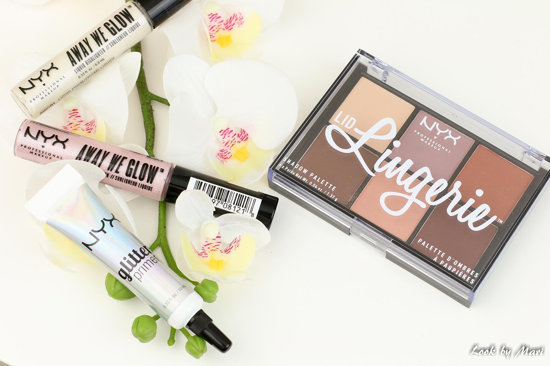 5 nyx glitter primer nyx lid lingerie shadow palette review kokemuksia blog blogi