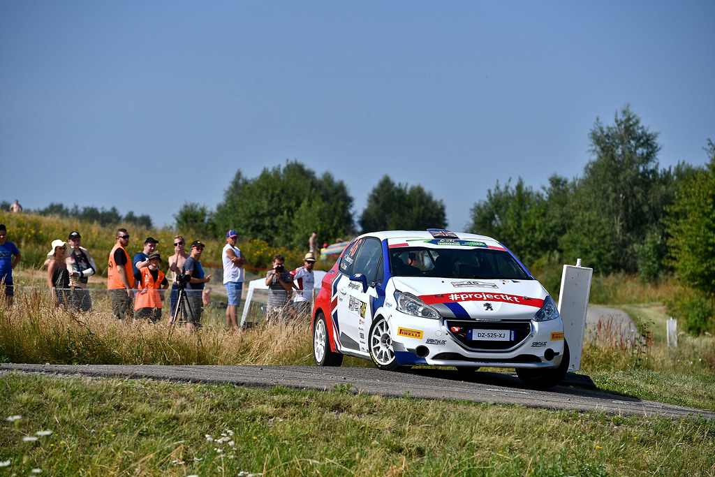 46 MUNNINGS Catie (GBR) STEIN Anne Katharina (AUT) Peugeot 208 R2 action during the 2017 European Rally Championship Rally Rzeszowski in Poland from August 4 to 6 - Photo Wilfried Marcon / DPPI