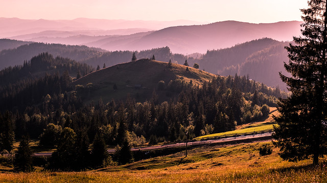 Sunset in Bukovina region - Romania - Landscape photography