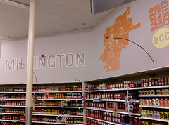 Find your way around Millington, just by looking at Kroger's bakery-deli back wall map!