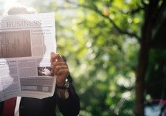 Business Newspaper Reading