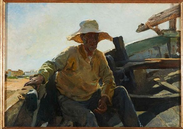 JoaquinSorollaYBastidaViejoPescadorEnUnaBarca(OldFishermanInABoat)1895
