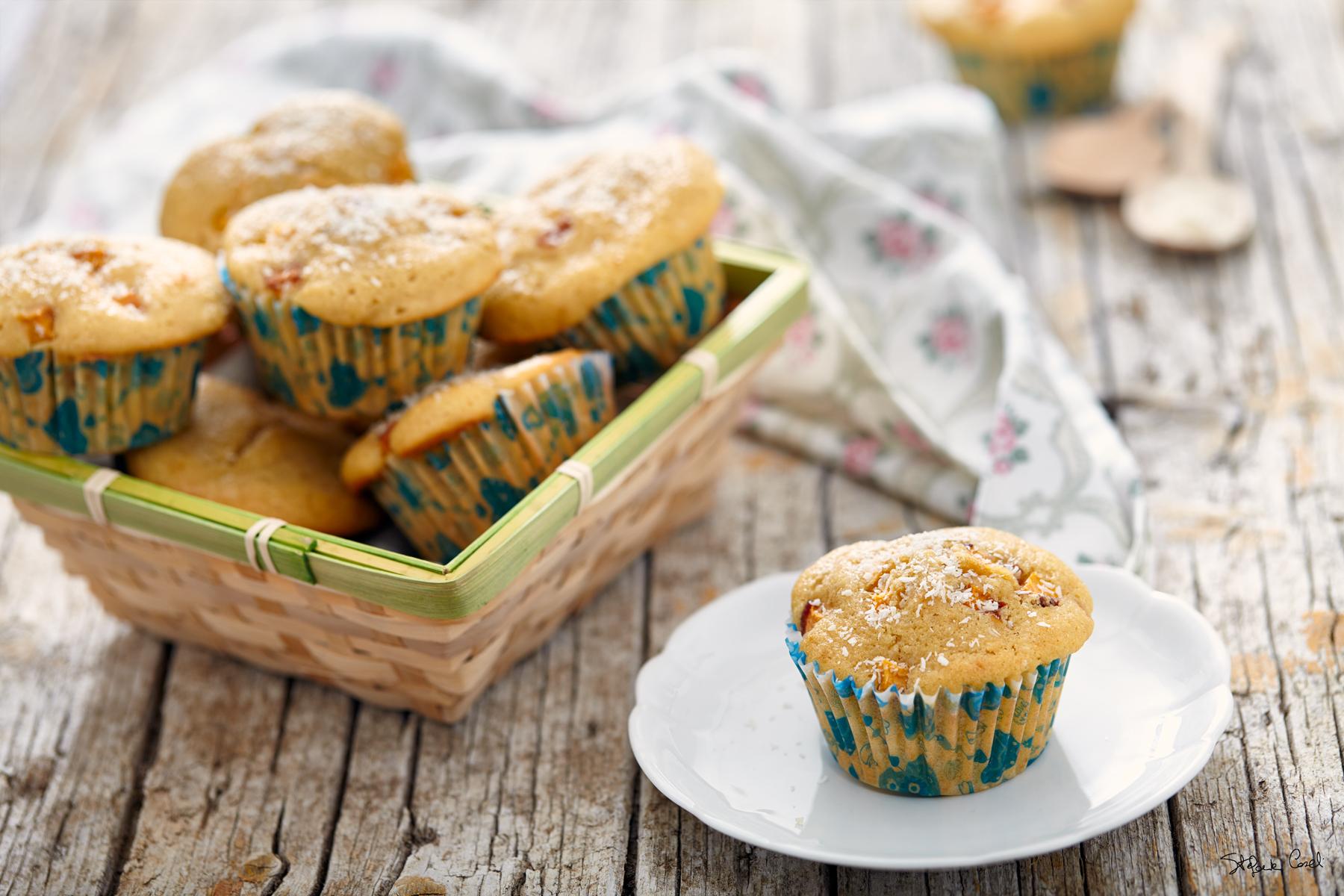 muffin cocco e pesca