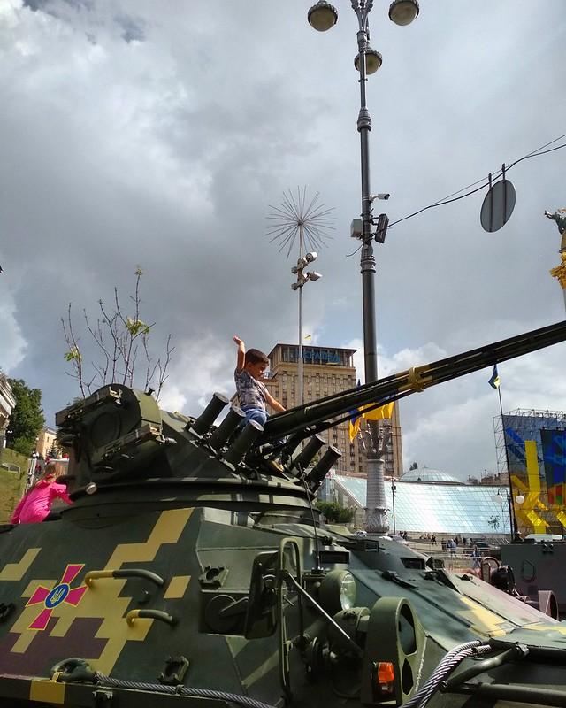 Парад на Крещатике по случаю 26-летия Независимости Украины
