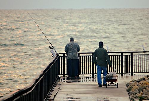 Morning fishing on Lake Michigan