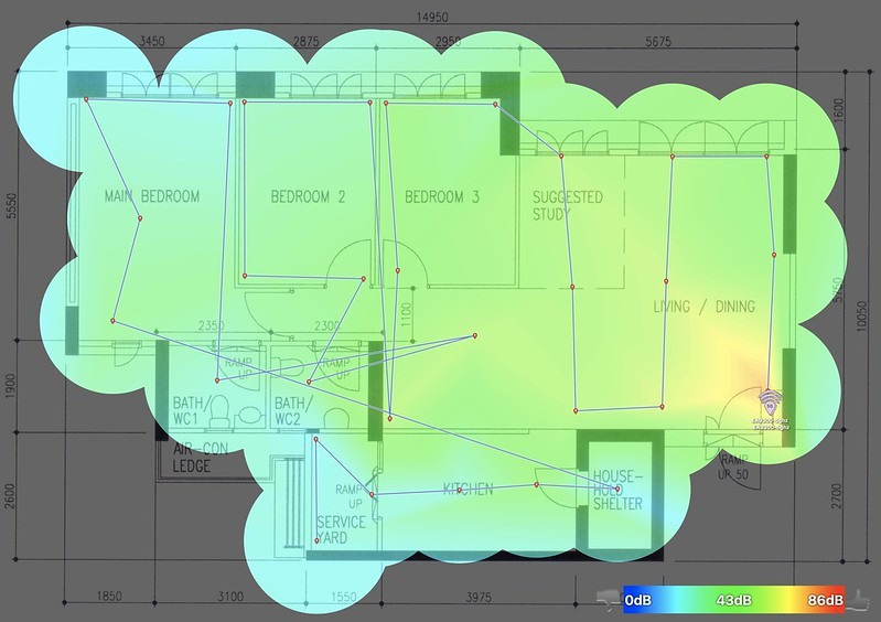 Linksys EA9300 - 5.0GHz - Heatmap