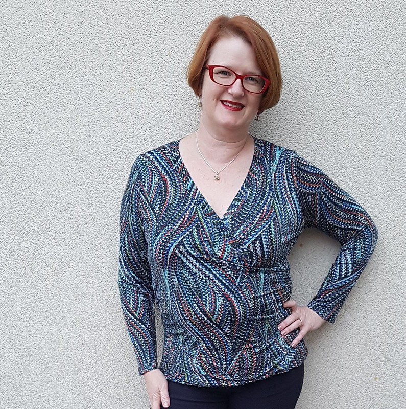 Cashmerette Dartmouth top in knit from Darn Cheap Fabrics