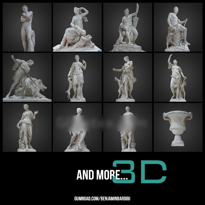 02  PARIS  25 FREE 3D scans from Louvre Museum - Gumroad