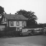 Trittau Kleinbahnhof mit HVV-Bussen 1969