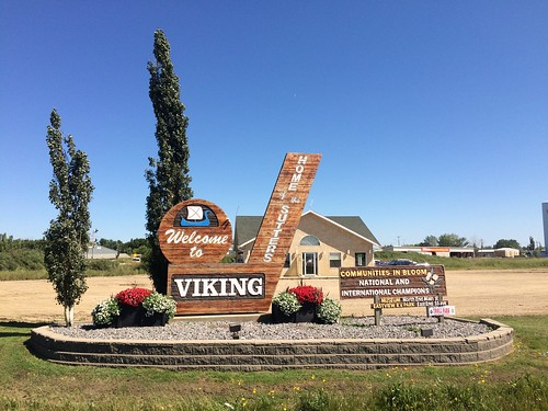 Viking welcome sign