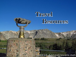 Travel Resources for Planning, etc.