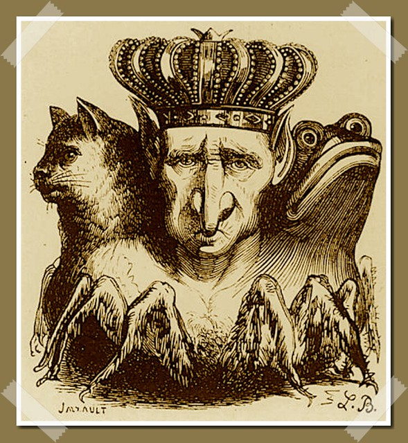 Baal as depicted in Collin de Plancy's Dictionnaire Infernal, 1863 edition.