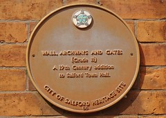 Photo of Town Hall, Salford brown plaque