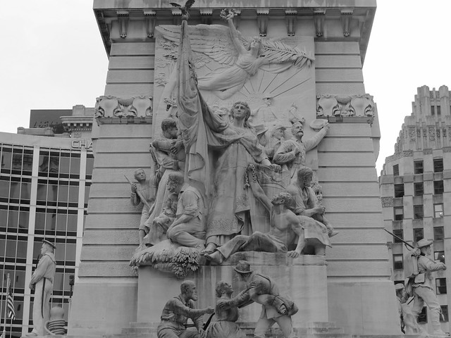 Indianapolis Soldiers and Sailors Monument on the Circle.