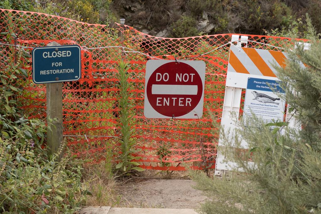 Steps closed to China Beach