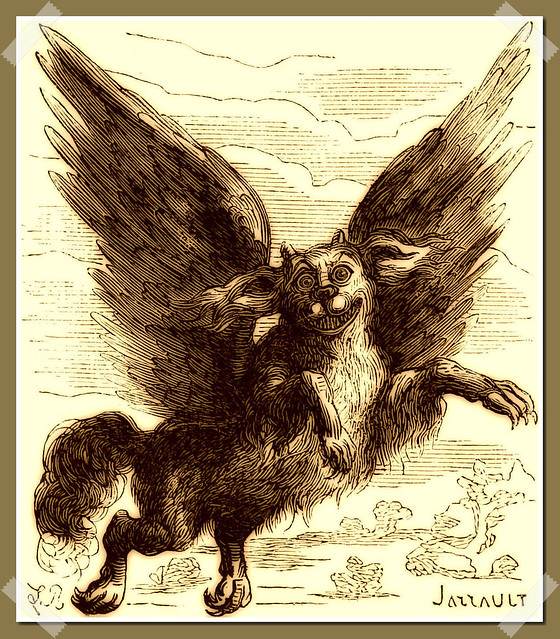 Glasyalabolas as depicted in Collin de Plancy's Dictionnaire Infernal, 1863 edition.