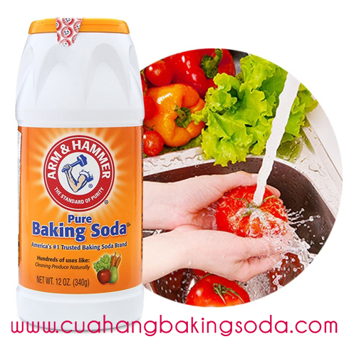 Baking soda rửa rau quả