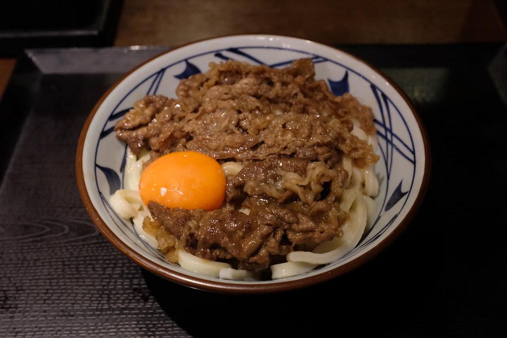 牛すき釜玉@丸亀製麺