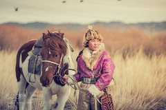 Kazakh Eagle Hunters in traditionally wearing typical Mongolian on Ratno Wistu's Flickr