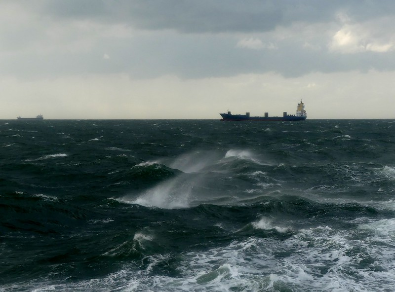 stormy times on sea