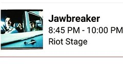 I've been waiting almost 20 years for today, even though I never thought it would happen. Tonight at 8:45, I get to mark a *huge* item off of my bucket list. #Jawbreaker #RiotFestTC #DreamsCanComeTruePeople