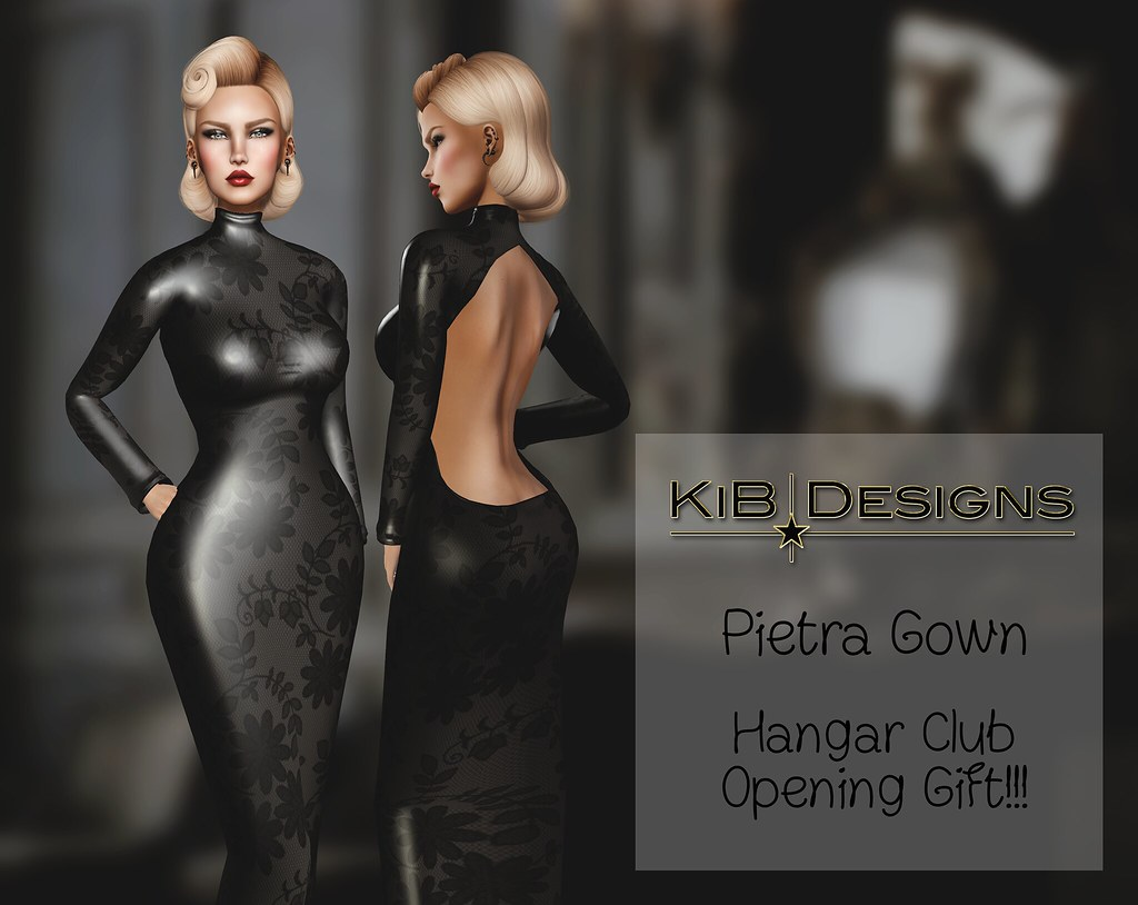 KiB Designs - Pietra Gown - Hangar Club Opening Gift - SecondLifeHub.com