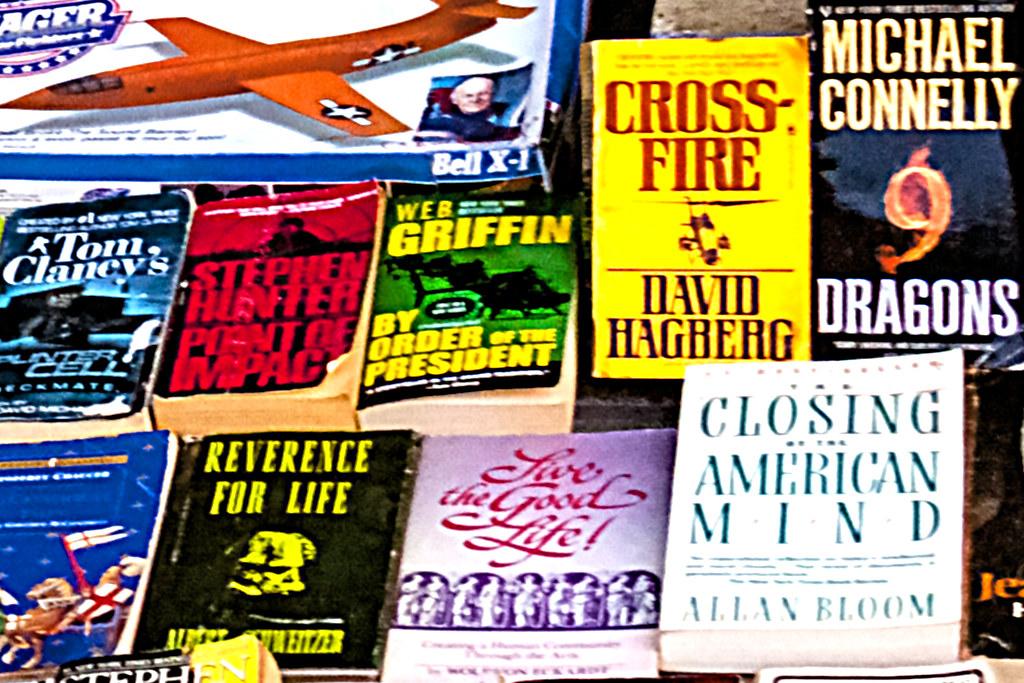 Homeless bookseller--South Street (detail 2)