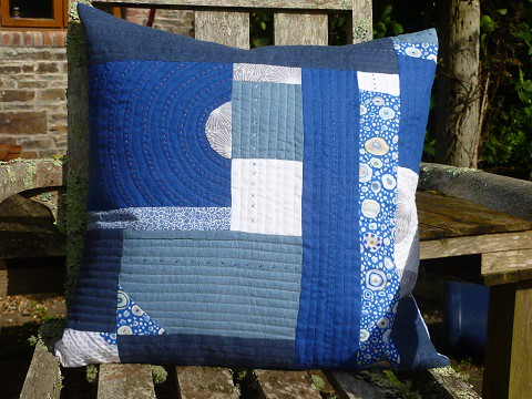 True blue cushion