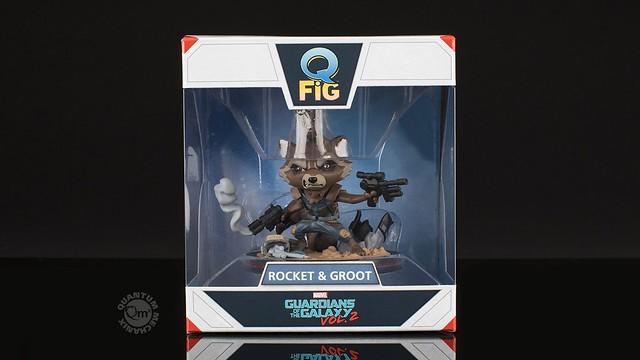 再怎麼裝兇你們都還是超可愛的~Quantum Mechanix Q-Fig 系列【火箭浣熊&小格魯特】Rocket & Groot Diorama